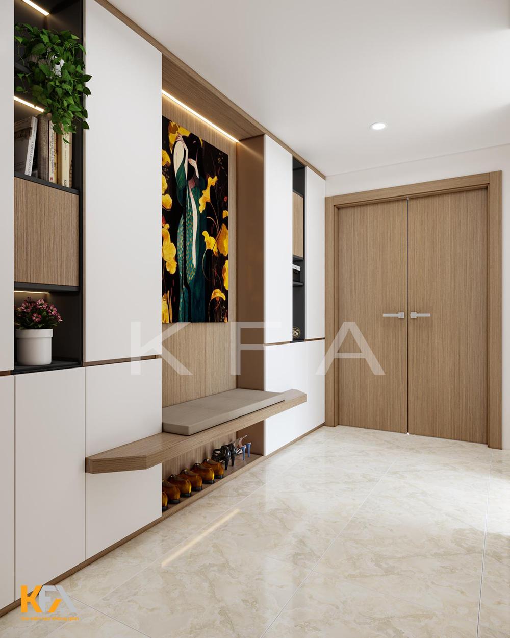 Thiết kế nội thất P17A Lake1 Ecopark bằng gỗ Laminate An Cường