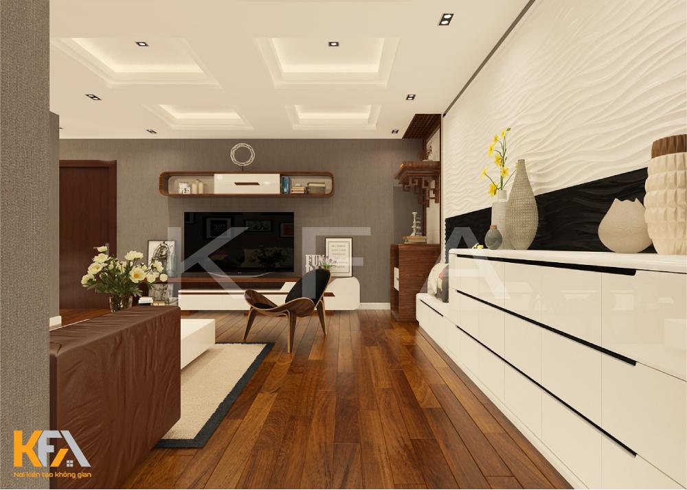 Thiết kế thi công nội thất chung cư ngoại giao đoàn – A Đức Anh
