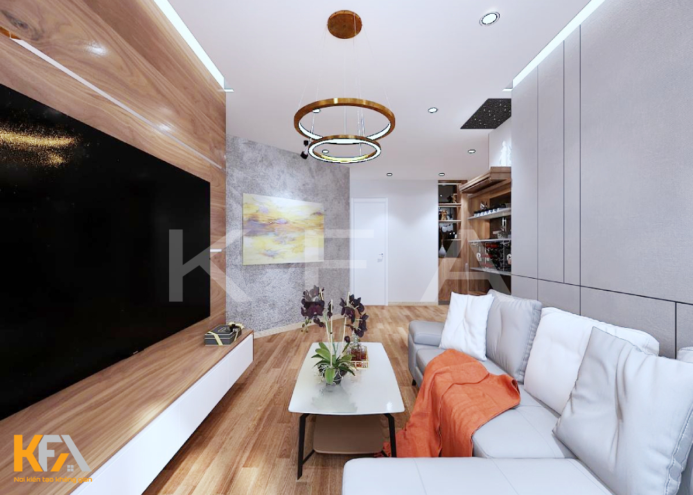 Thiết kế nội thất nhà anh Hương 100m2 3 phòng ngủ
