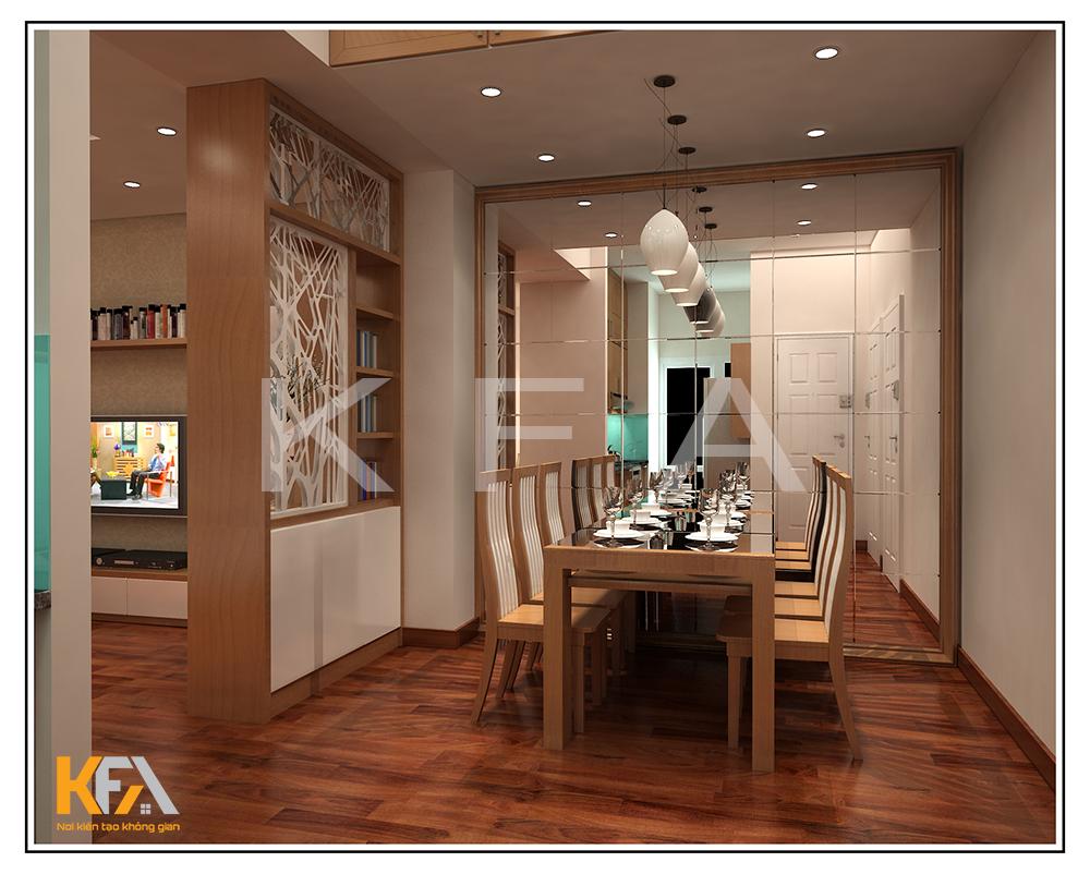 Thiết kế nội thất nhà anh Tĩnh căn 1106 tòa 17-2 Sài Đồng