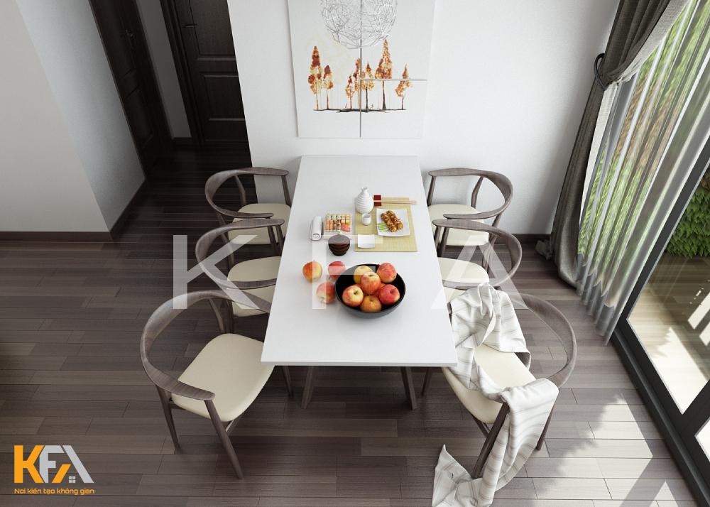Thiết kế nội thất nhà chị Thương Kiến Hưng chung cư 2 phòng ngủ