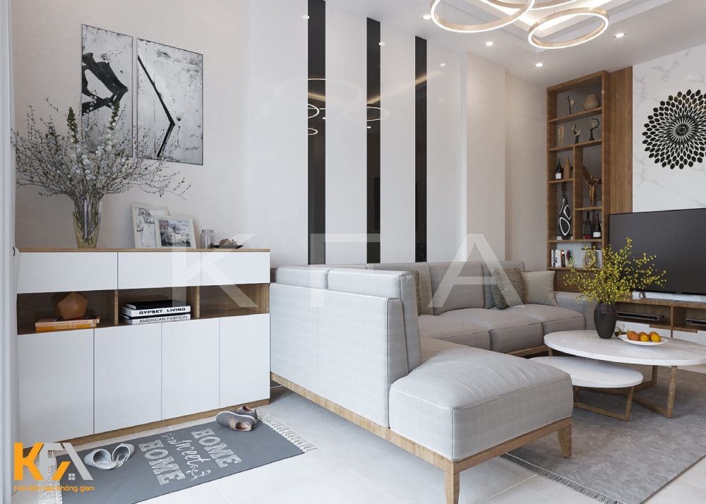 Thiết kế nội thất nhà phố anh Quyến chị Hoa Tây Mỗ