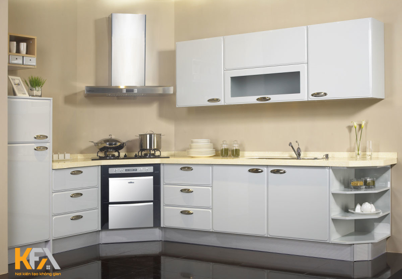 Phong cách thiết kế đa dạng, trẻ trung mang đến không gian phòng bếp đẹp và tinh tế.