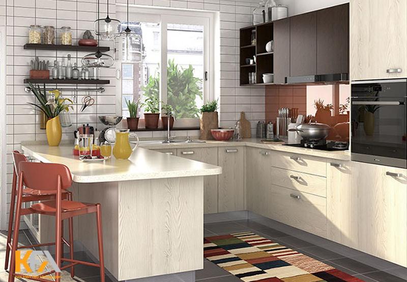 Cửa sổ giúp không gian nấu nướng thông thoáng hơn