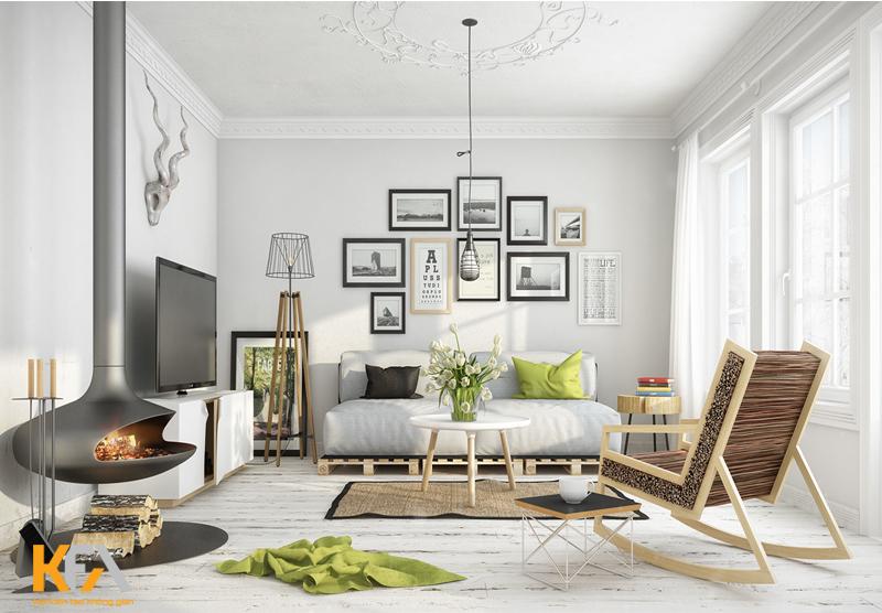 Sử dụng những màu sắc tươi sáng cho không gian tiếp khách