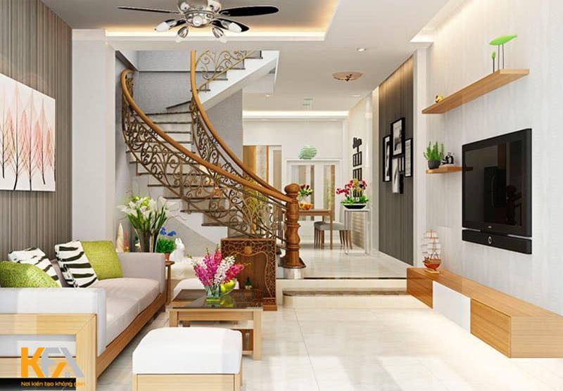 Phòng khách đẹp phong cách hiện đại