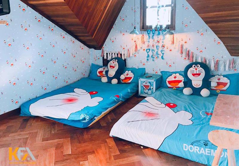 Trang trí phòng ngủ Doremon cho người trưởng thành