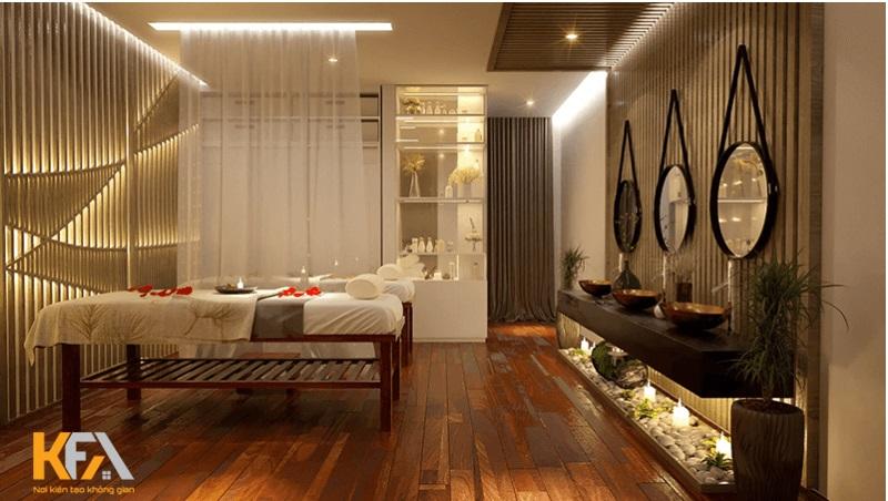 Đồ gỗ luôn là lựa chọn tối ưu khi thiết kế spa