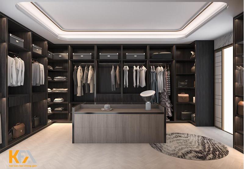 Walk-in Closet hiện đại, sang trọng