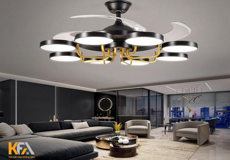 Lựa chọn và bố trí đèn trang trí phòng khách theo khoa học