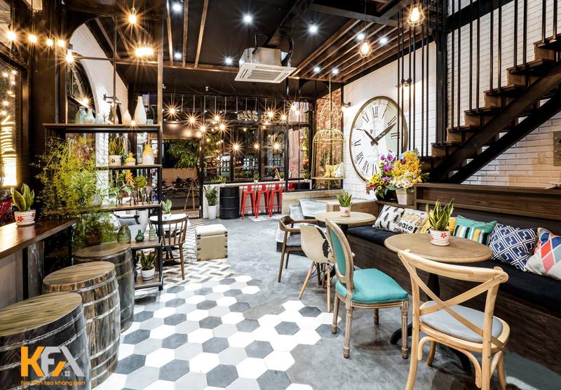Thiết kế quán cafe đẹp sẽ tạo được điểm ấn tượng mạnh trong lòng khách hàng
