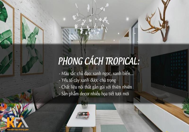 Phong cách tropical style, mang thiên nhiên đến căn phòng của bạn