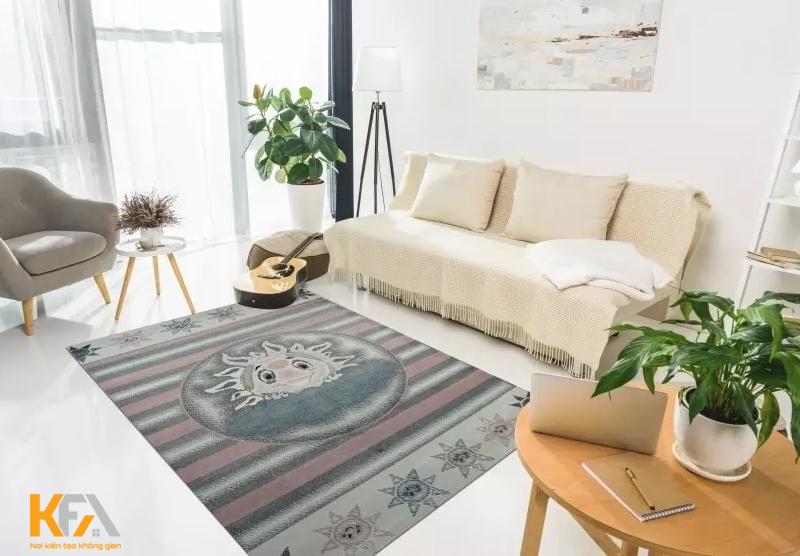 Kích thước thảm trải hiện nay đa dạng sẽ tùy thuộc vào kiểu dáng và diện tích trong phòng khách