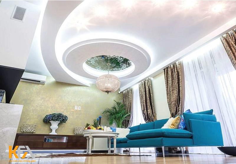 èn trang trí phòng khách thường sẽ được chọn có kích thước lớn