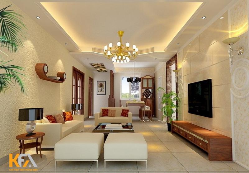 Đèn phòng khách chiêm ngắm và tận hưởng không gian hoàn hảo