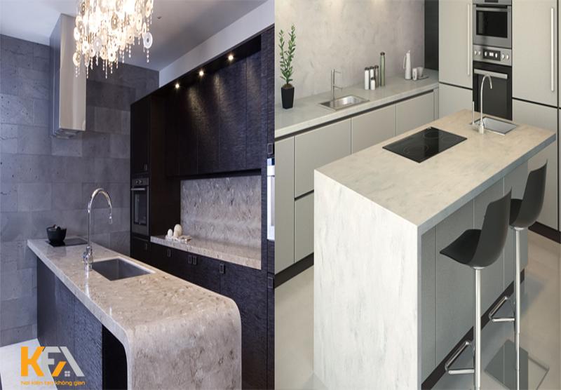 Đá Granite không gian phòng bếp trẻ trung