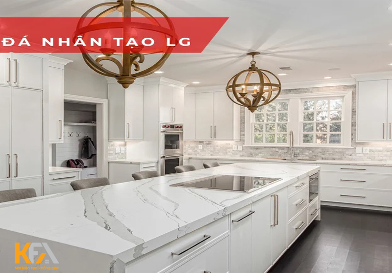 Ốp đá nhân tạo LG sẽ tạo nên cho không gian bếp nấu thêm tươi trẻ, hoàn hảo