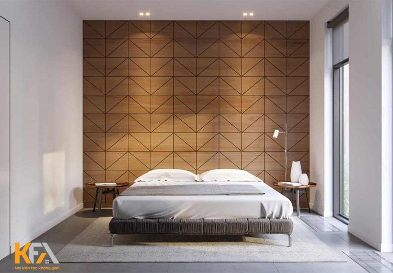 Vách ốp bằng gỗ công nghiệp sẽ có khả năng điều hòa không khí và mang đến những giờ nghỉ ngơi thoải mái nhất