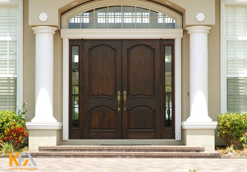 Mẫu cửa đơn giản, tối ưu trong thiết kế cũng là mẫu cửa được nhiều người sử dụng
