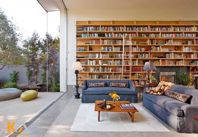Ánh sáng tự nhiên trong phòng đọc sách không thể nào thiếu được