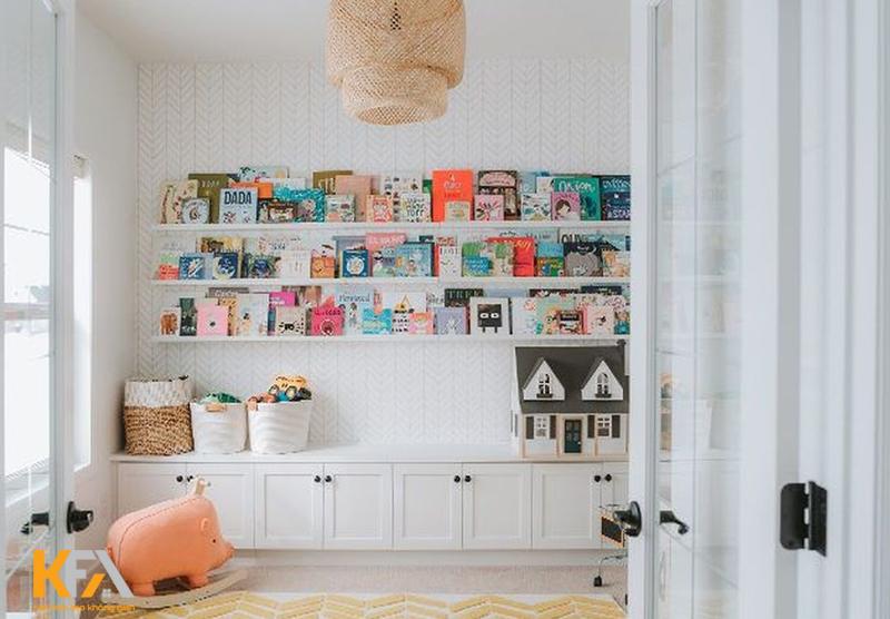 Mẫu phòng đọc sách cho bé