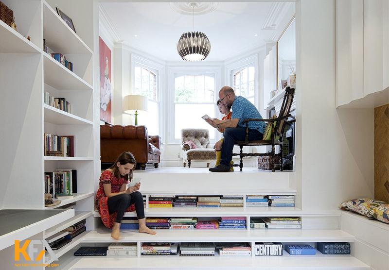 Việc thiết kế phòng đọc sách cho bé sẽ giúp tăng thêm niềm vui, sự tò mò và học tập ở trẻ
