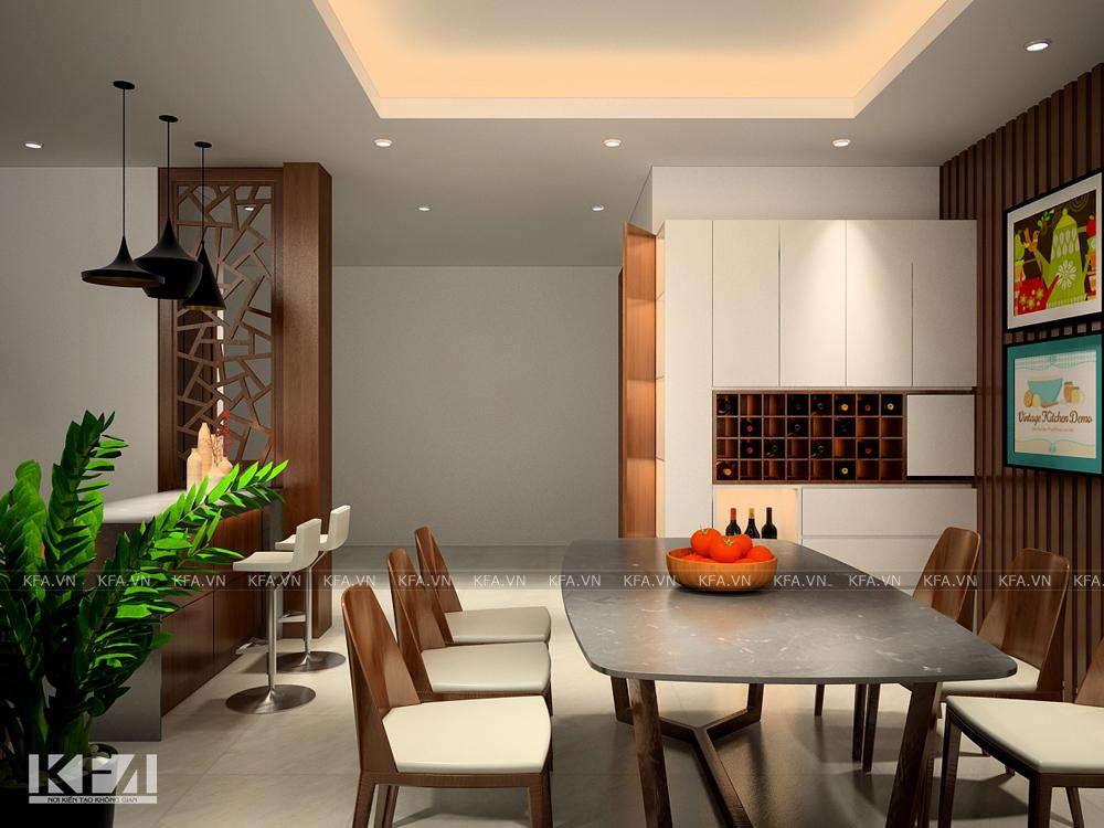 Thiết kế nội thất biệt thự Lideco – anh Lâm