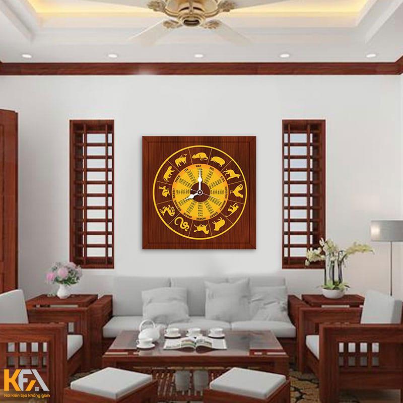 Đồng hồ trang trí bằng gỗ