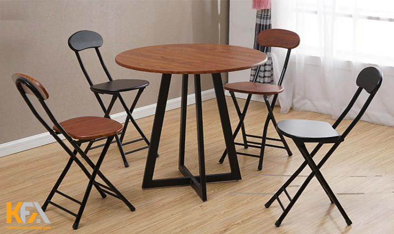 Bàn ghế gỗ dạng xếp mini