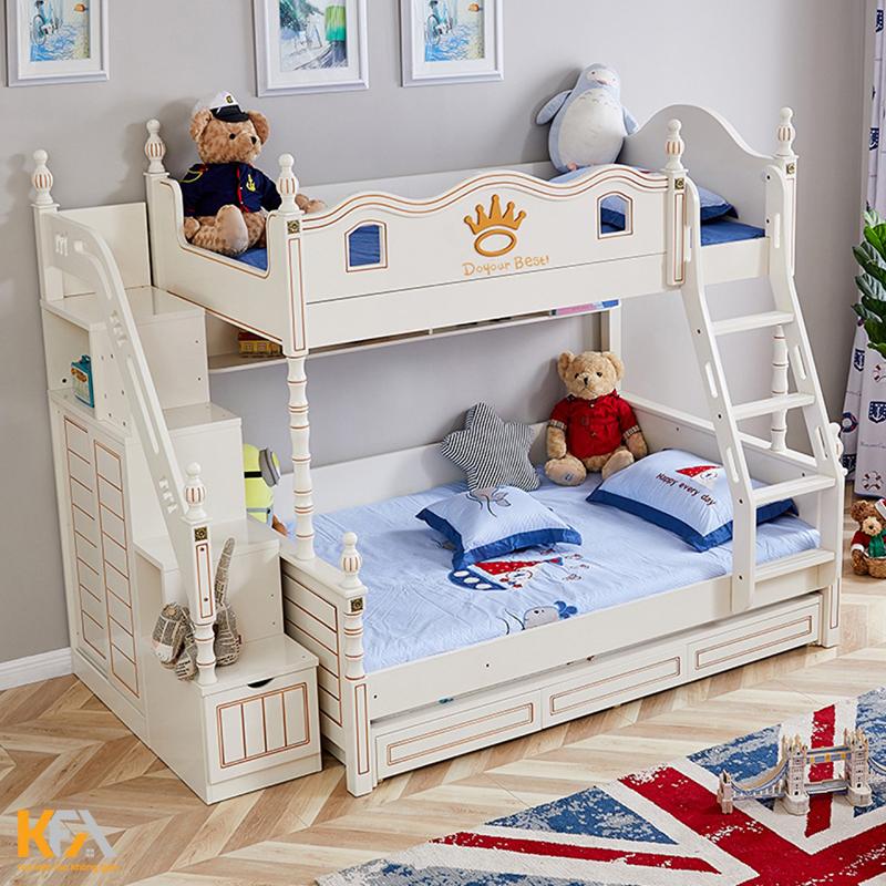 Mẫu thiết kế giường tầng mang phong cách cổ điển