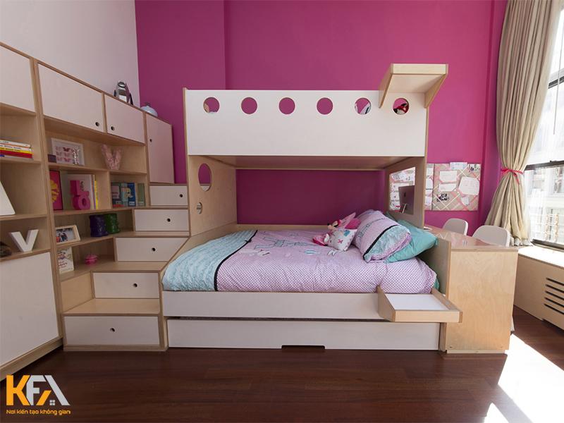 Giường tầng thiết kế theo mẫu hiện đại