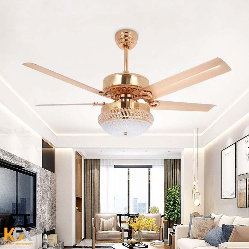 20+ mẫu quạt trần trang trí đẹp cho phòng khách