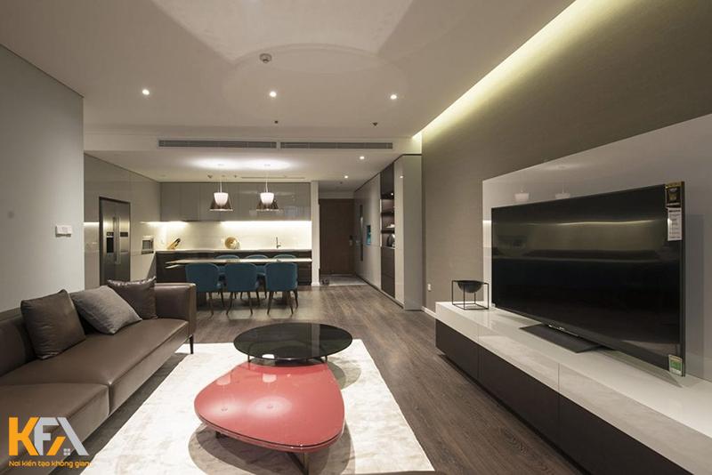 Thiết kế phòng khách liền phòng ngủ nên chọn nội thất gì?