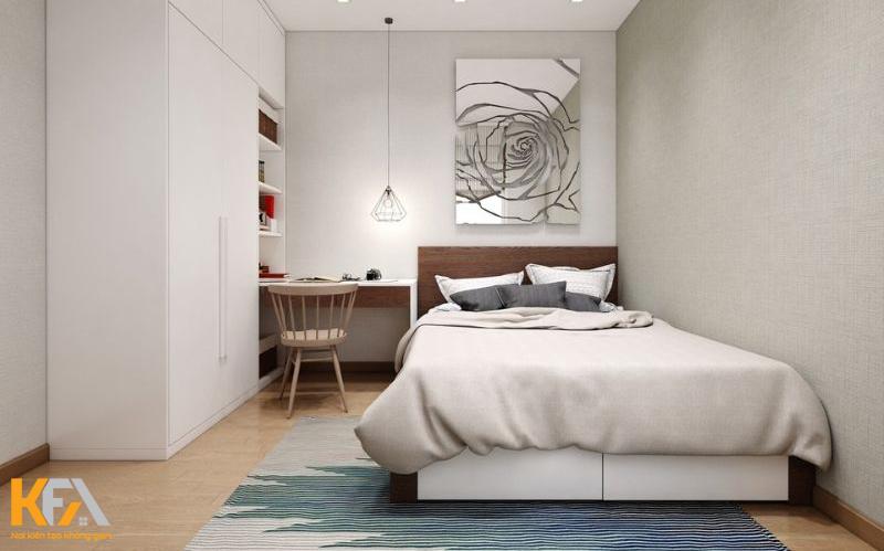 Phòng ngủ với tông màu trung tính
